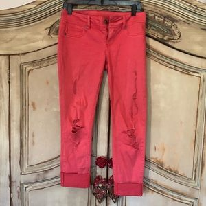 Maurices Coral Capris Size Small